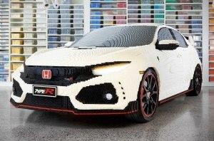 Спортивную Honda Civic отстроили в Lego с рабочей оптикой